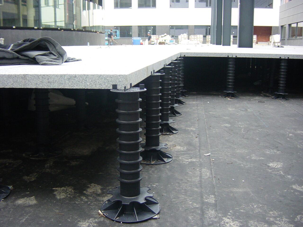Terras betontegels AZ Damiaan ziekenhuis in Oostende2